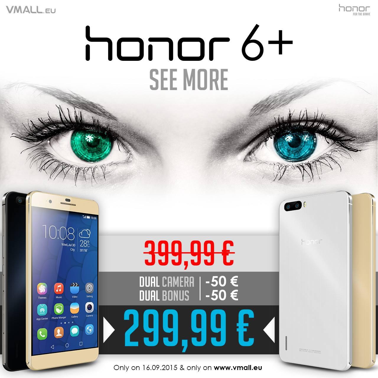 100€ di sconto per Honor 6 Plus solo per 24 ore