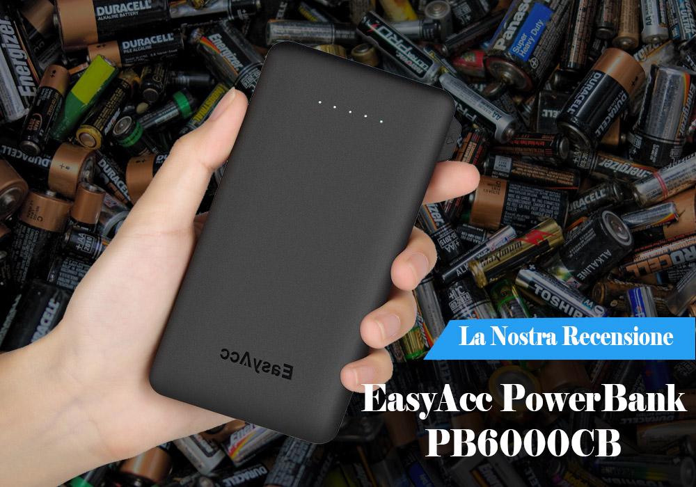 Recensione EasyAcc PowerBank PB6000CB