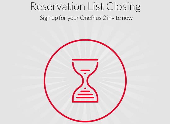 OnePlus chiude la lista per ottenere inviti di OnePlus 2
