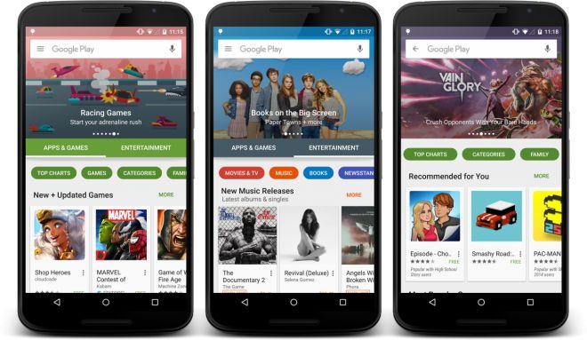 Ecco il nuovo Play Store di Android! (Download APK)