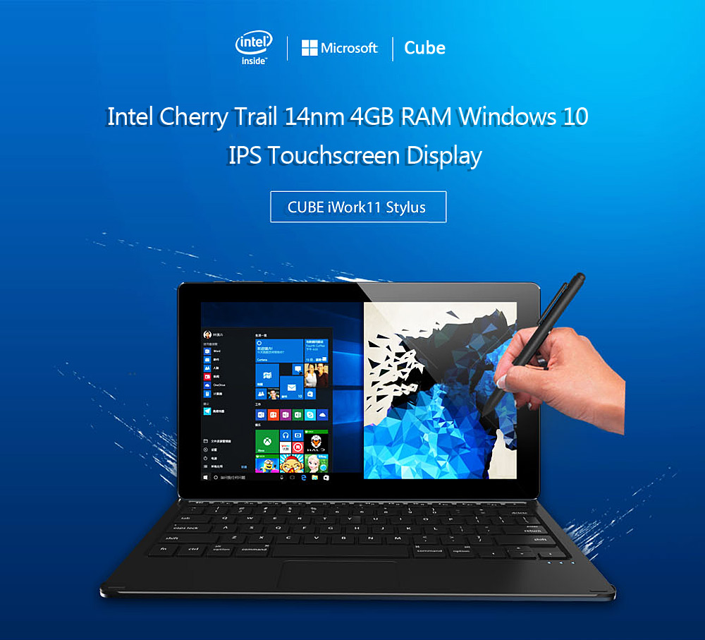Cube iWork11 Tablet PC  l'alternativa al surface con Windows 10 e 4GB RAM a soli...
