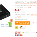 ACEMAX Ki Plus TV Box piccola Android TV octa core a poco più di 40 euro