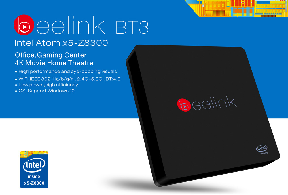 Beelink Intel BT3 TV Box con processore Intel disponibile su gearbest