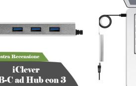 Recensione iClever USB-C ad Hub con 3 Porte USB Gen 1 Combo