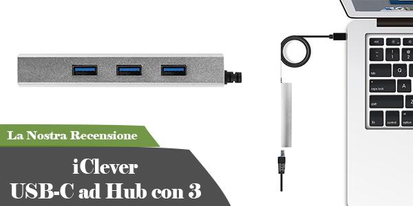 iClever USB-C ad Hub con 3