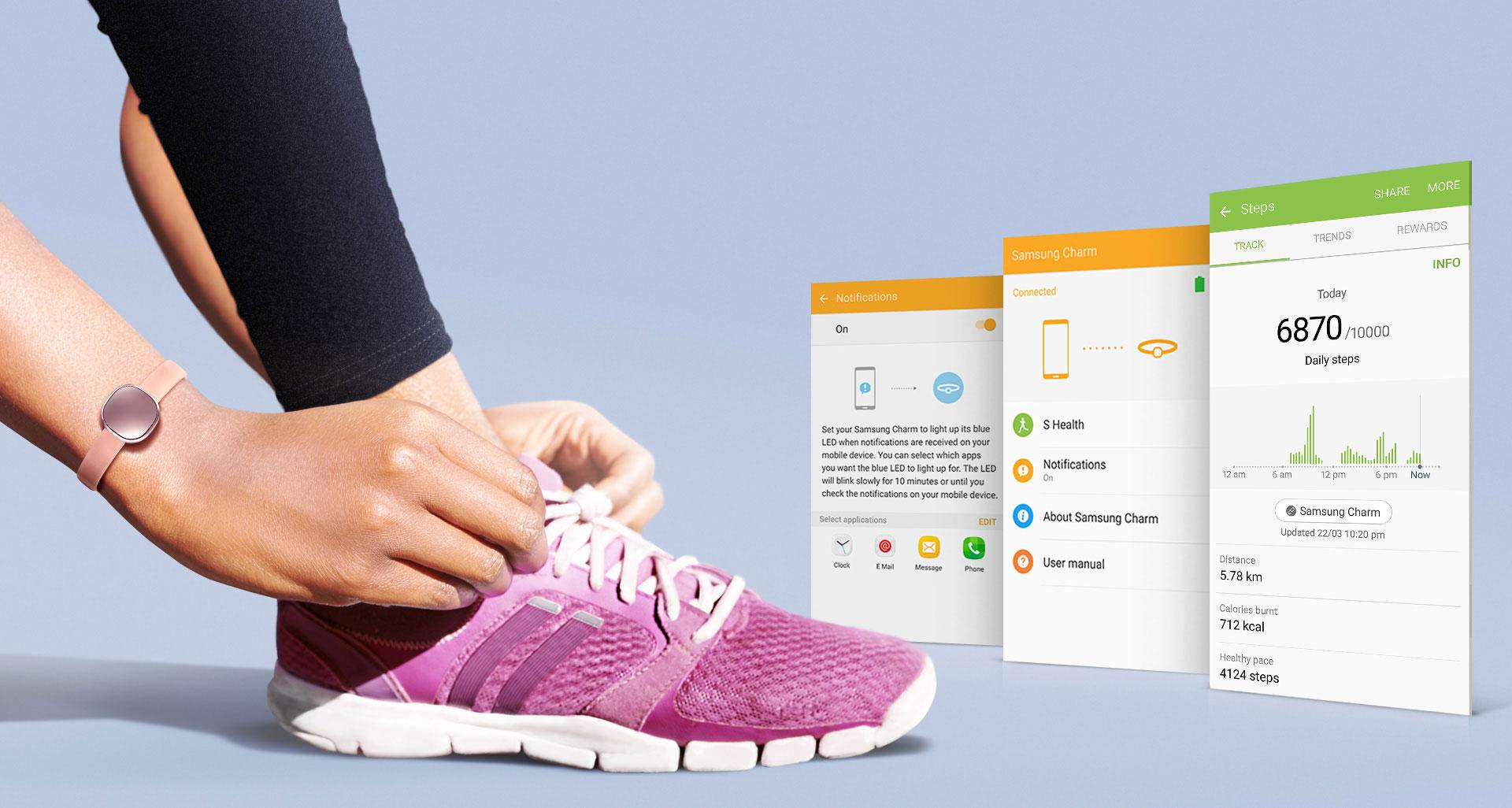 Samsung Charm: il nuovo fitness band con finiture luxury