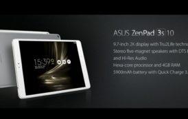 IFA 2016: Asus presenta ZenPad 3s 10