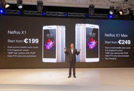 Jeffrey Chao Announcing the Prices of the Neffos X1 and X1 Max