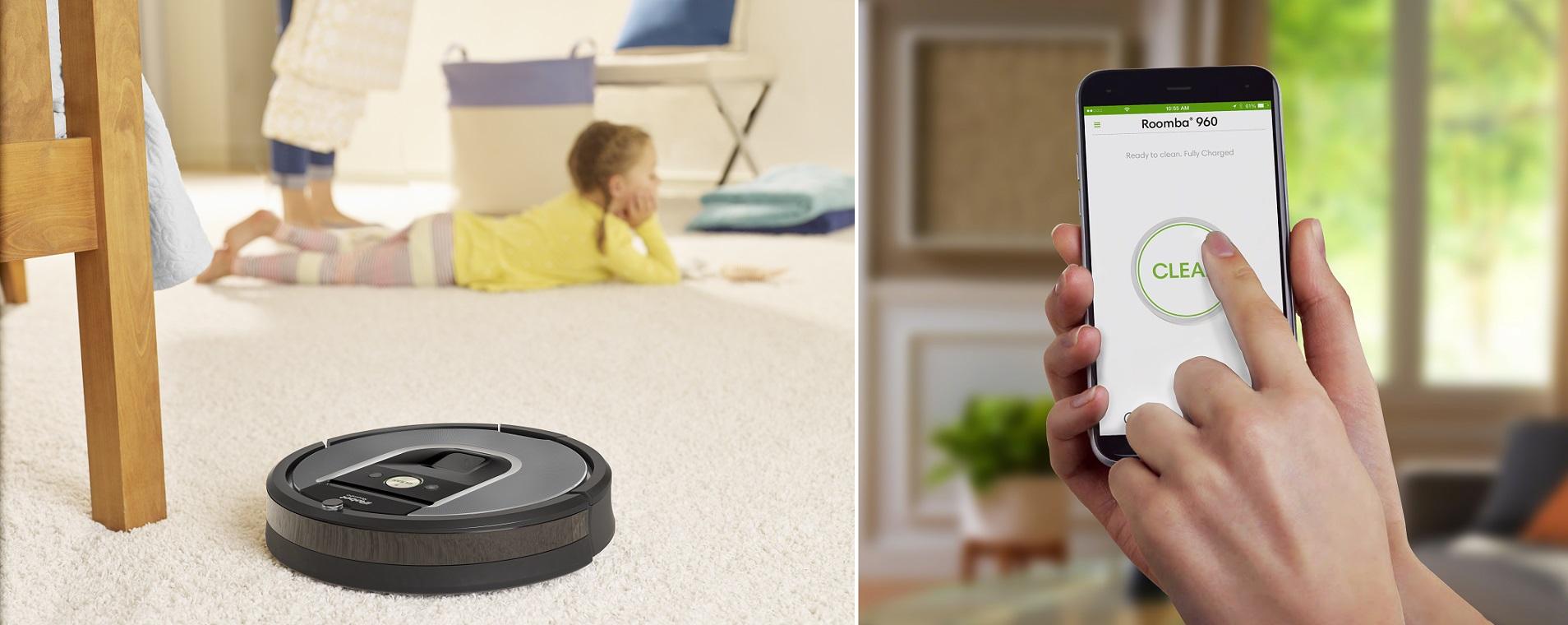 Roomba 960: l'aspirapolvere che puoi comandare con il tuo smartphone