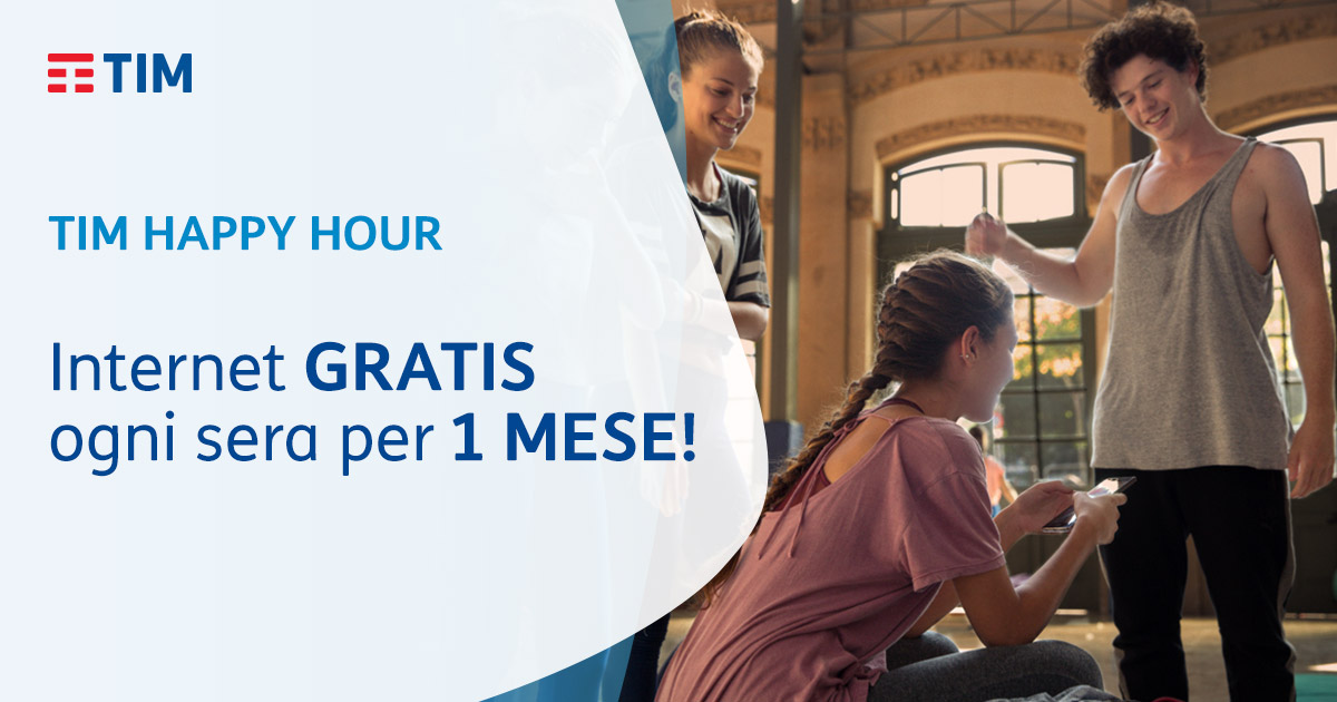 TIM Happy Hour: per tutti Internet GRATIS !