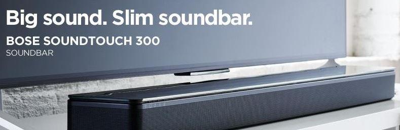Bose annuncia la nuova soundbar SoundTouch300 e i nuovi sistemi Lifestyle 650 e 600.