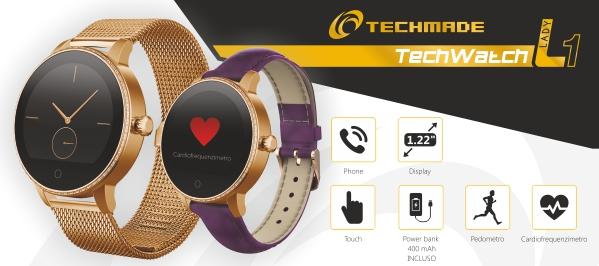 Techwatch Lady 1 e Techwatch One Mini: gli smartwatch ideali per un pubblico femminile