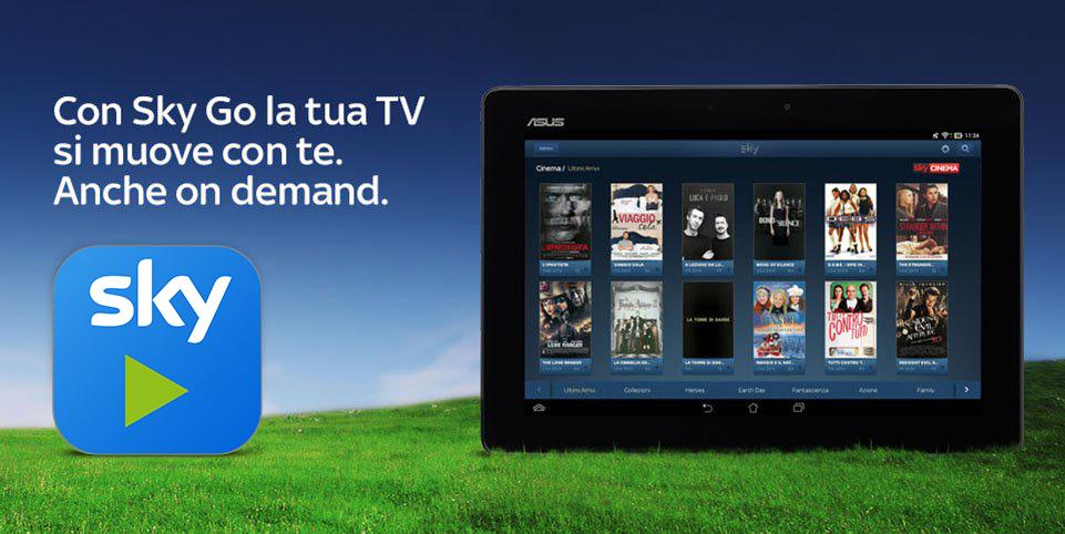ASUS annuncia la certificazione dell'app Sky Go con nuovi modelli di tablet e smartphone