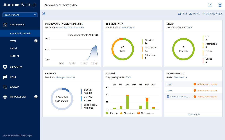 Acronis Backup 12.5 porta la protezione dati ad un livello superiore e rende le soluzioni tradizionali obsolete