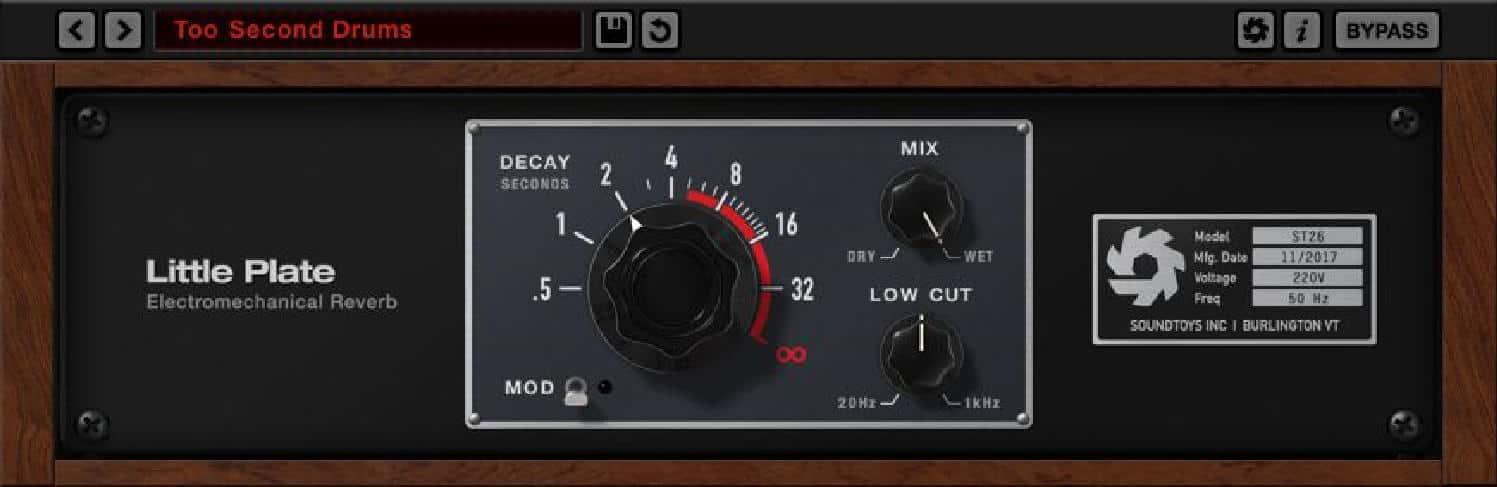 FREE Plug-IN SoundToys - Little Plate Reverb - solo fino al 22 novembre